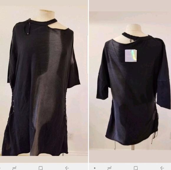 Missguided Plus Size Acid Wash Corset Dress US 12
